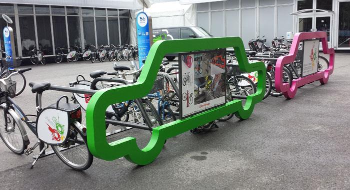 Rasti Eu Car Bike Port Fahrradstander Mit Werbung